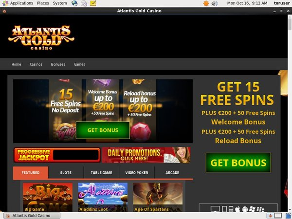 Atlantis Gold Online Casino Slots