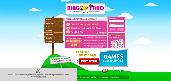 Bonus Code Bingo Yard