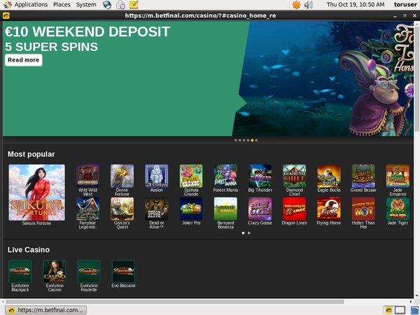 Casino Bonus Betfinal