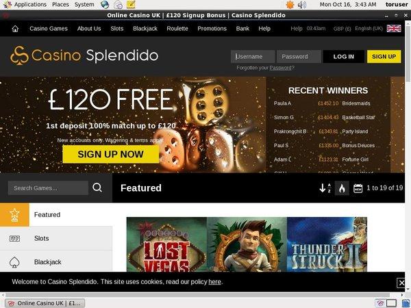 Casino Splendido Games App