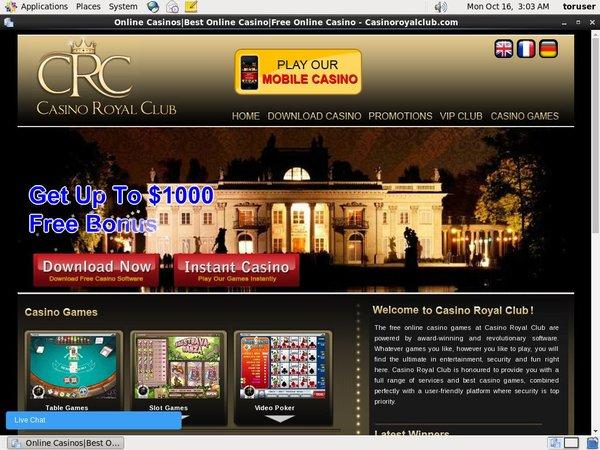 Casinoroyalclub Velkomstbonus