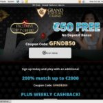 Grandfortune Welcome Bonus No Deposit
