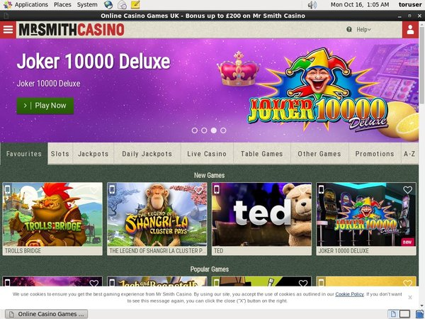 Mr Smith Casino Free Bonus Code