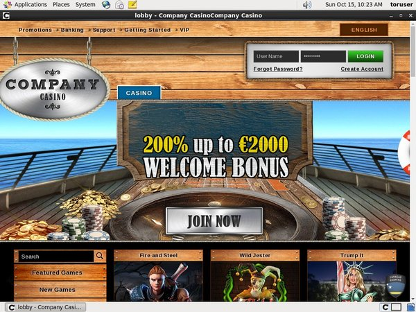 New Company Casino Account