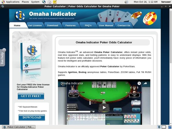 Omahaindicator With Credit Card