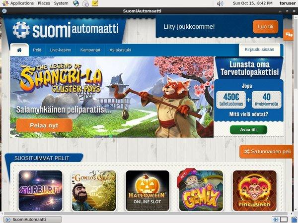 Suomiautomaatti Online Casino Jackpot