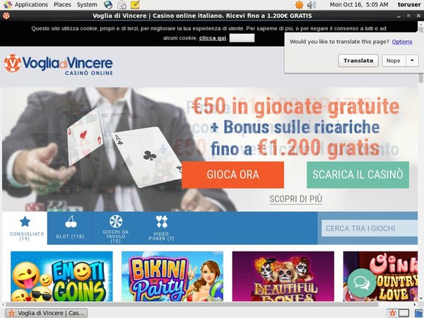 Vogliadivincere Sign Up Free