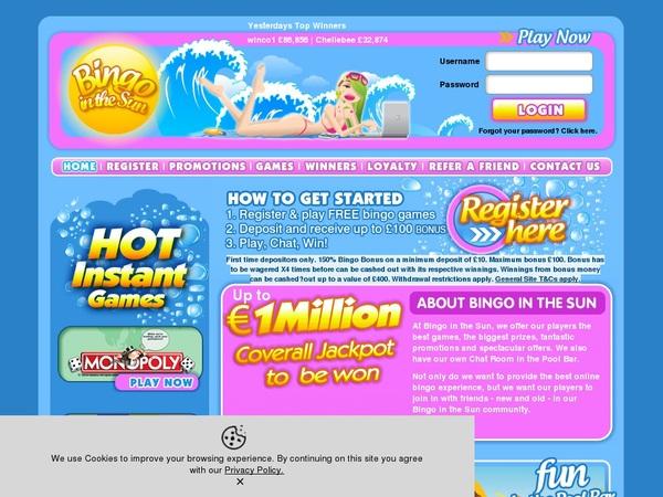 Bingo In The Sun No Deposit Needed