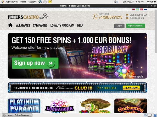 Peters Casino New Customer Promo