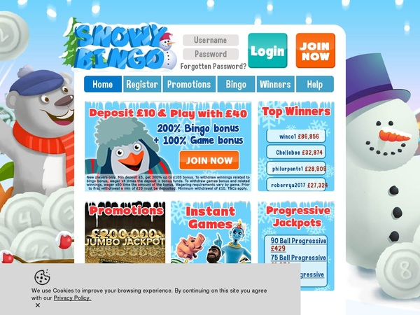 Snowybingo Casino Sites