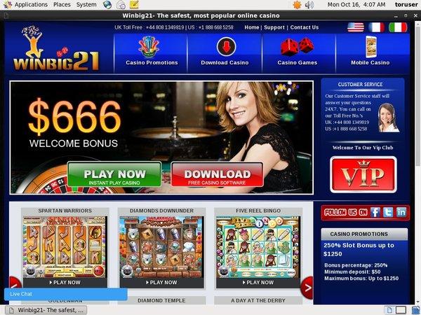 Winbig21 Bonus Casino