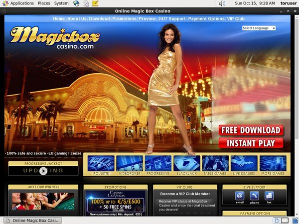 Magic Box Casino Cubits