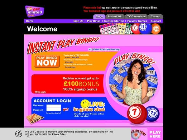 Get Minted Bingo Mindesteinzahlung