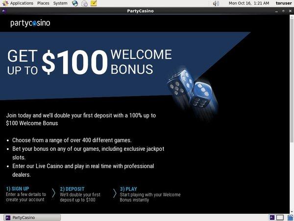 Party Casino Bonus Coupon