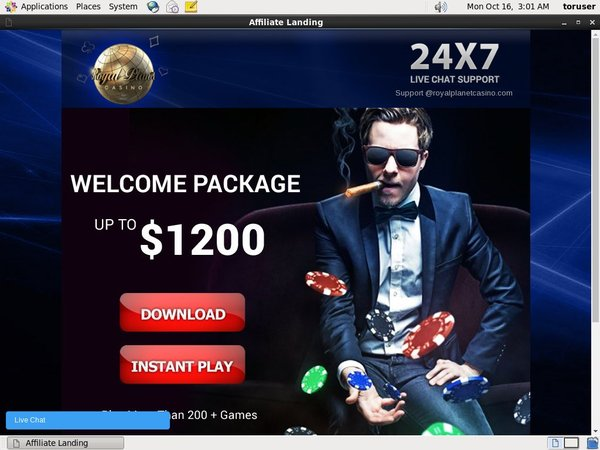 Royal Planet Deposit Play With
