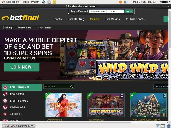 Betfinal Casino Astro Pay