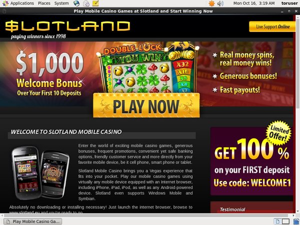 Slot Land Mobile Limited Deal