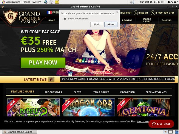 Grandfortunecasino With Bitcoin