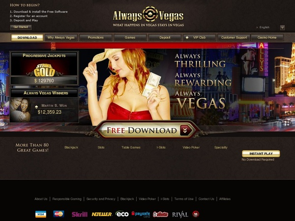 Always Vegas Casino Bonus