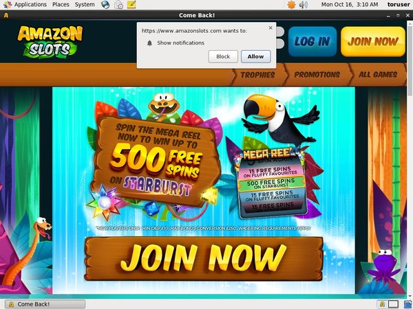Amazon Slots Promotions Offer