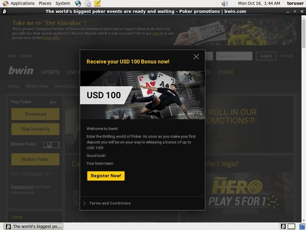 Bwin New Account Promo