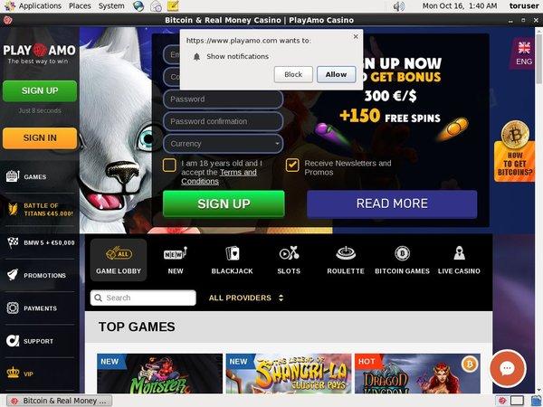 Amocasino Live Online Casino