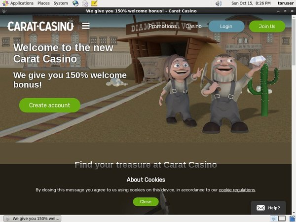 Caratcasino Join Free Bet
