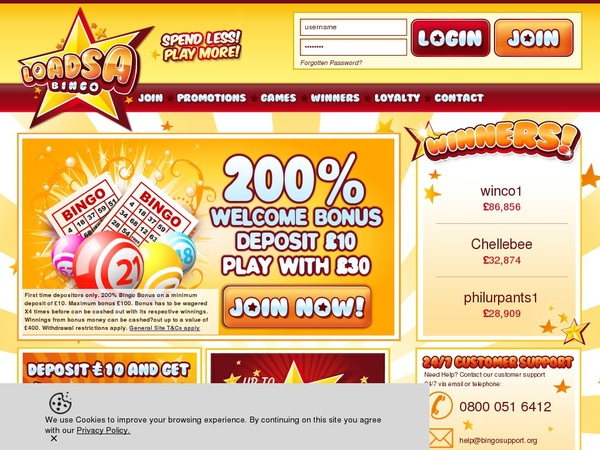 Loadsa Bingo Best Online Casino