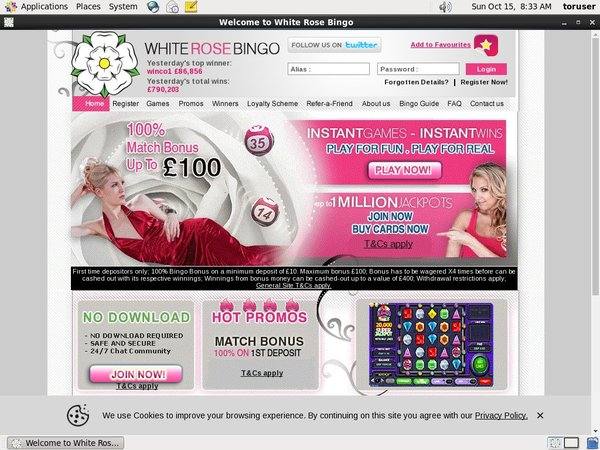 White Rose Bingo Pay With Paypal