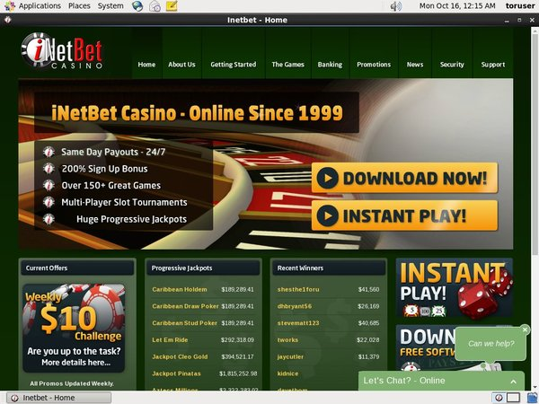 INetBet Casino Moneybookers