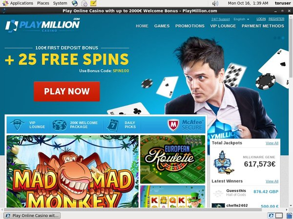 Open Play Million Account
