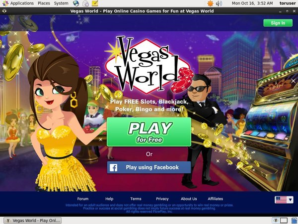 Vegas World Welcome Offer