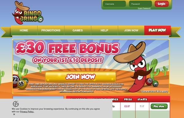 Bingogringo Bonus Money