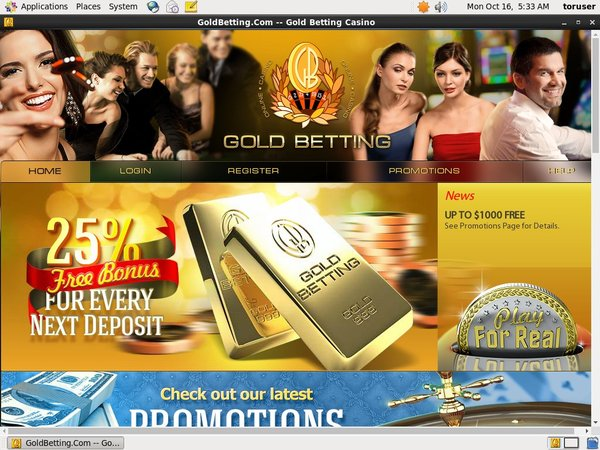 Goldbetting Eco Card
