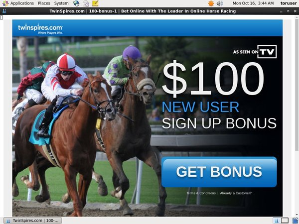 Twin Spires Sign Up Page