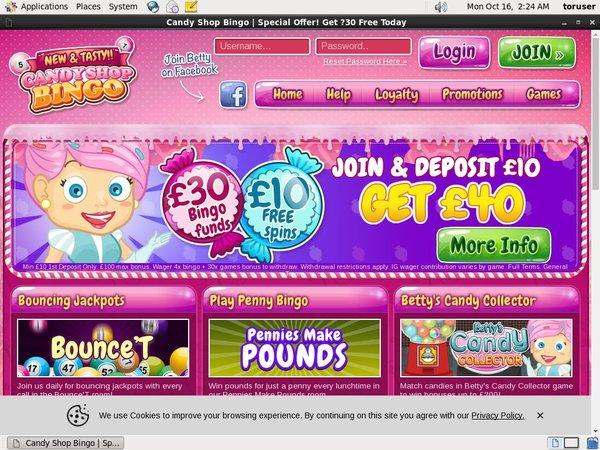 Candy Shop Bingo Refer A Friend