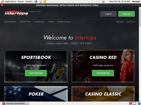 Intertops Sign In