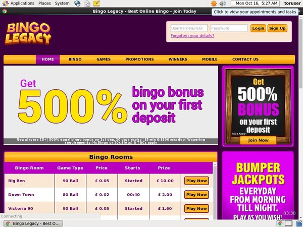 Bingo Legacy New Customer
