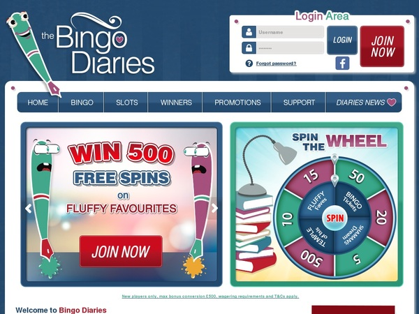 Bingodiaries New Customer Bonus