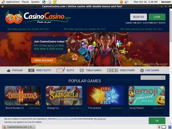 Casinocasino Registration