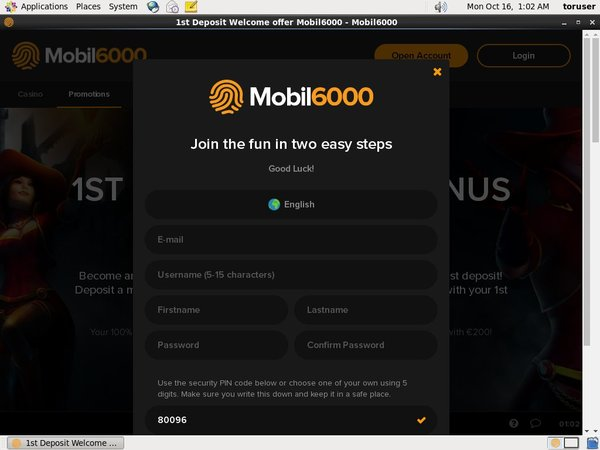 How To Create Mobil6000 Account