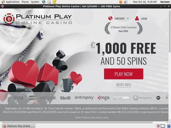 Platinum Play Coupon Code