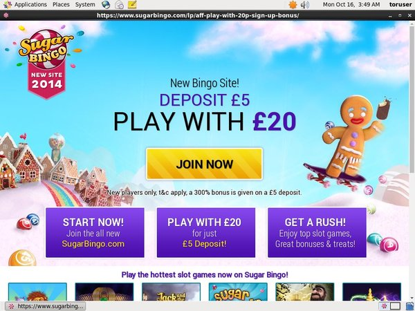 Welcome Offer Sugarbingo