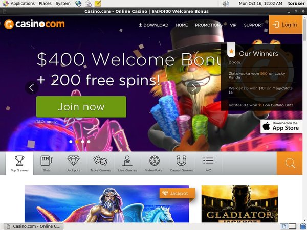 Casino.com Mobile Mastercard