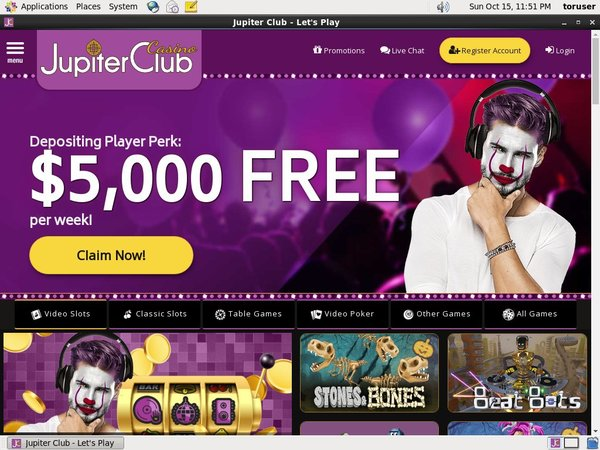 Jupiter Club Free Bet Terms