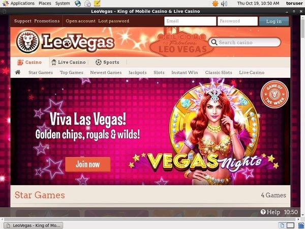 Leovegas Create Account
