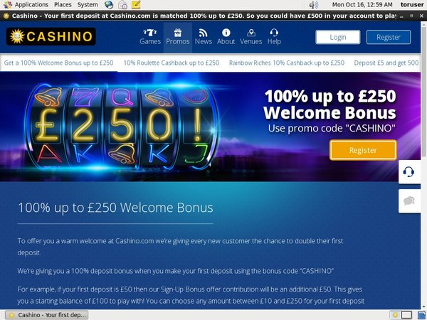 Join Cashino Promotion