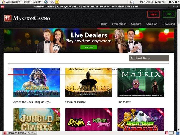 Mansioncasino Mobil Casino