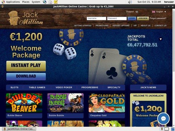 Jackmillion Lottery