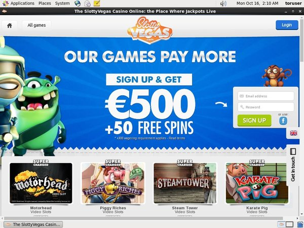 Slotty Vegas Online Casino Uk